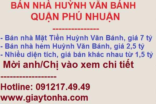 Bán nhà Huỳnh Văn Bánh Phú Nhuận