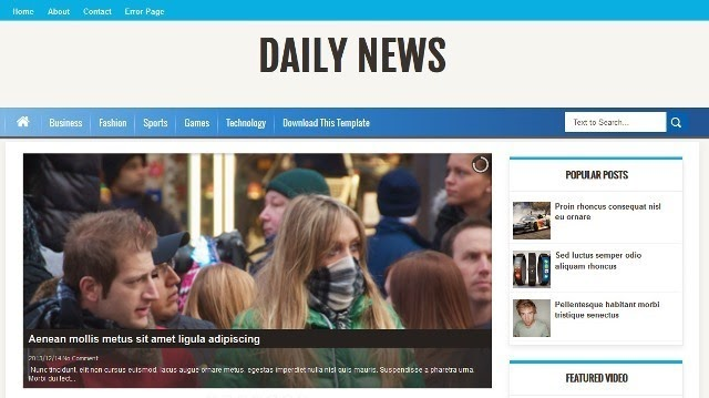 Daily News video blogger template