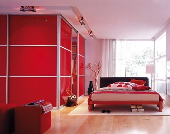 Habitaciones Juveniles en Rojo y Gris - Dormitorios colores y estilos
