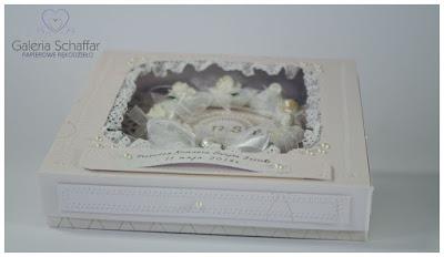 kwiaty papierowe scrapki wstazki koronka bawelniana papiery do scrapbokingu komunijne