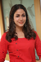 Actress Lavanya Tripathi Latest Pos in Red Dress at Radha Movie Success Meet .COM 0165.JPG