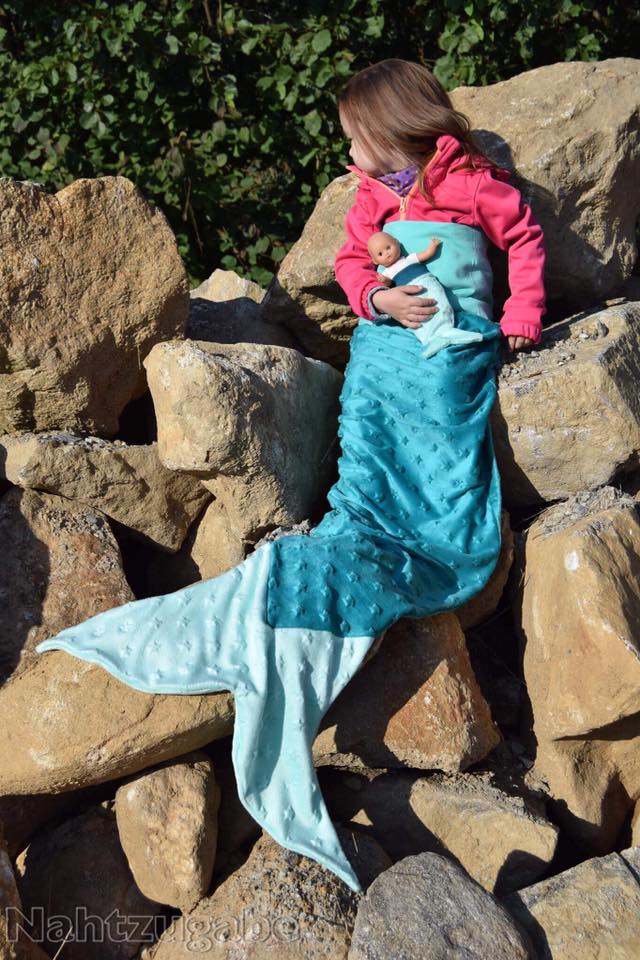 doppelpack: Meerjungfrau Decke nähen. Mermaid blanket. Schnittmuster ...
