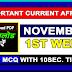 November 1st Week Current Affairs | GK 2017 | PDF