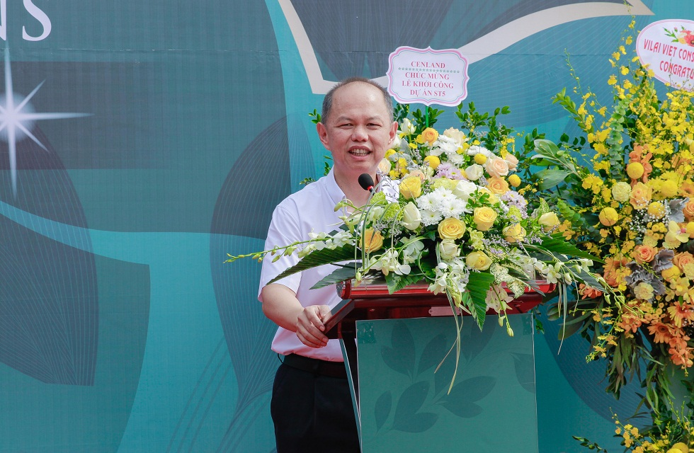 Đại diện của Gamuda Land phát biểu tại buổi lễ khởi công liền kề ST5