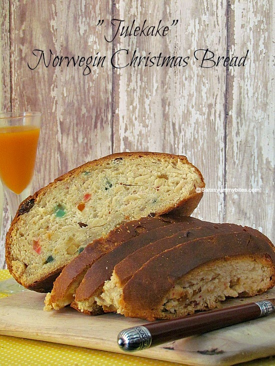 Julekake ~ Norwegian Christmas Bread
