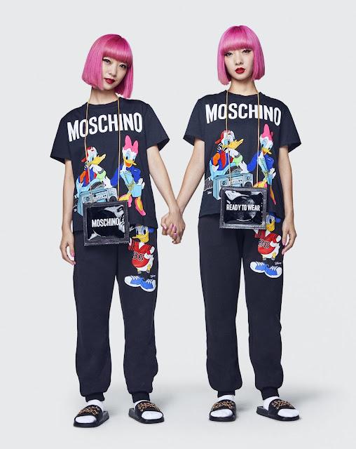 collezione Moschino per hm stampa Paperino capi collezione Moschino per hm mariafelicia magno fashion blogger colorblock by felym