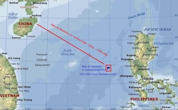 Wilayah Scarborough Shoal, sengketa Filipina dan China