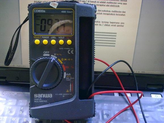 Cara Mengunakan Alat ukur Multitester CD800a