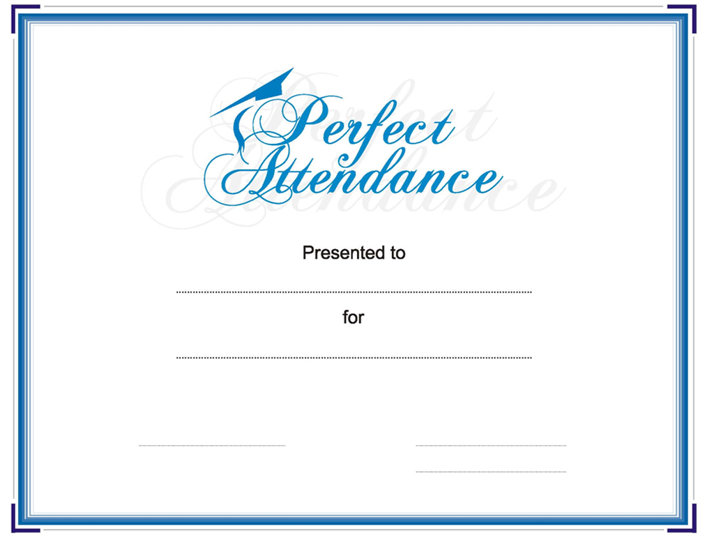 Employee perfect attendance certificate template free download d employee perfect attendance certificate template yelopaper Images