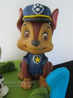bonecos patrulha para pasta açucar bolos festas anos
