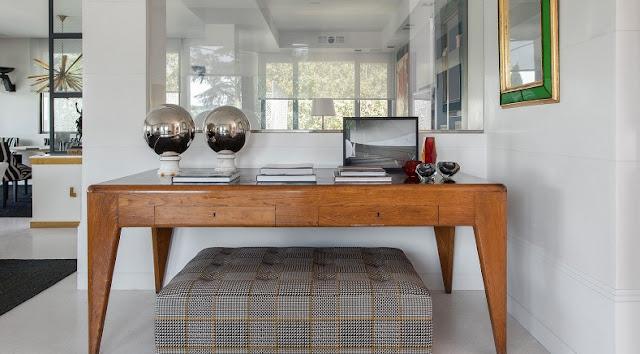 comoda vintage restaurada en madera natural chicanddeco