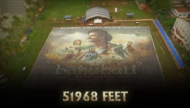 The size of 51968 feet the record-breaking poster; the largest in the world unveiled at Kochi