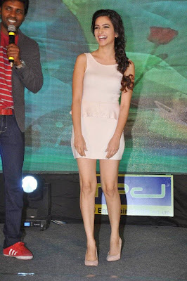 Kriti Kharbanda Stunning Photos in Short Dress at Lakshmi Raave Maa Intiki Audio Launch