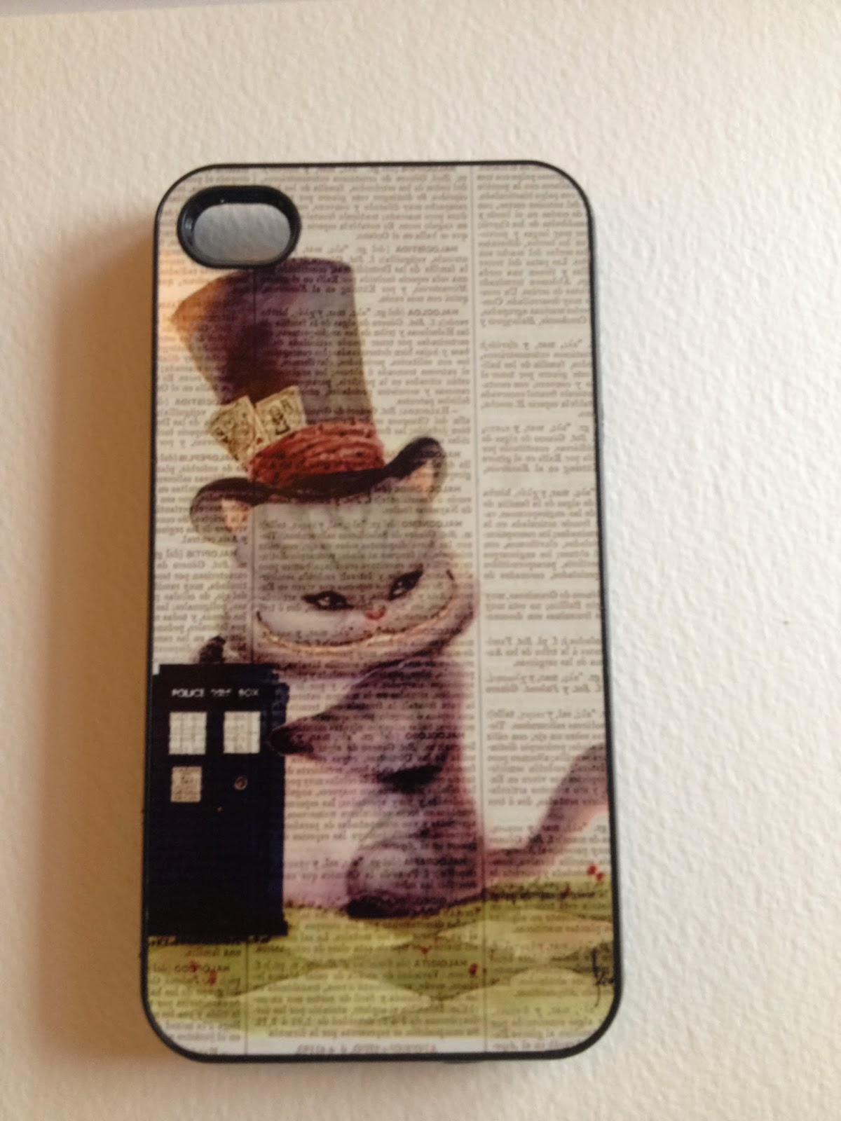 Alice in Wonderland and Doctor Who iPhone cover