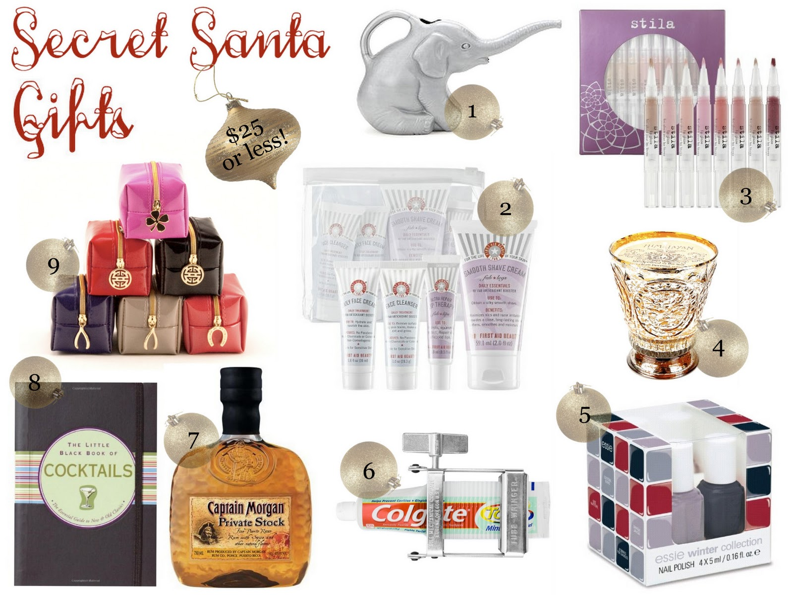 A LITTLE BIT OF LACQUER: Secret Santa Gift Ideas