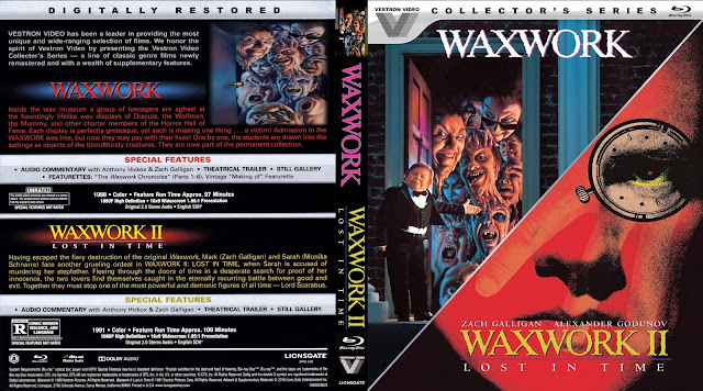 Waxwork / Waxwork II: Lost in Time Collection Bluray Cover