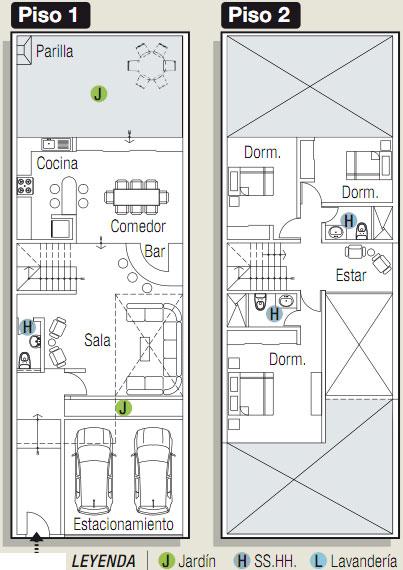 Planos para casa en 160m2 y 3 niveles planos de casas for Planos para construir una casa de un piso