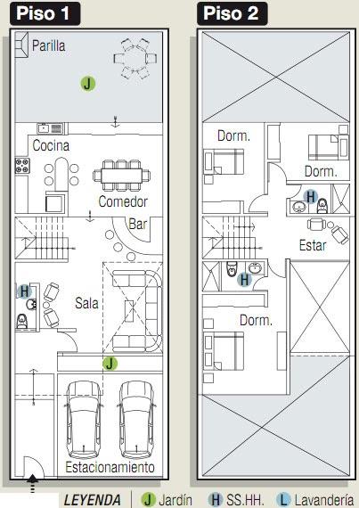 Planos de casas gratis y departamentos en venta planos for Casa 2 plantas 160 metros cuadrados