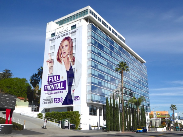 Full Frontal Samantha Bee TV billboard