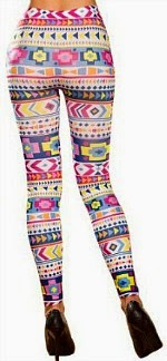 Multi-coloured Aztec Acid House Leggings