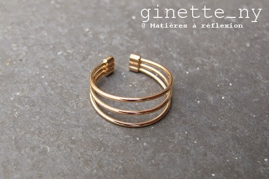 Bague Ginette_NY Choker or rose