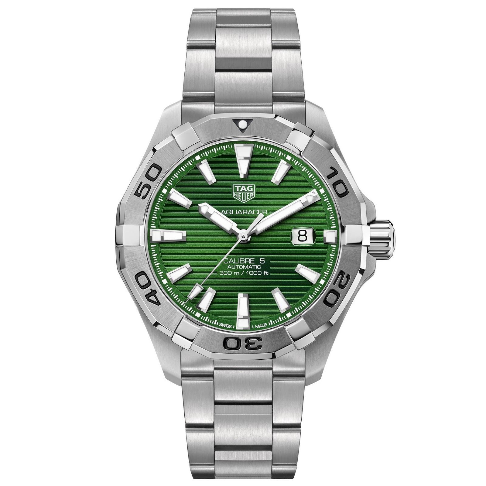 Tag Heuer's new Emerald Green Aquaracers TAG+Heuer+Aquracer+EMERALD+02
