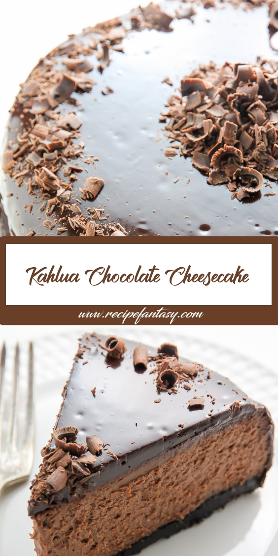 Kahlua Chocolate Cheesecake