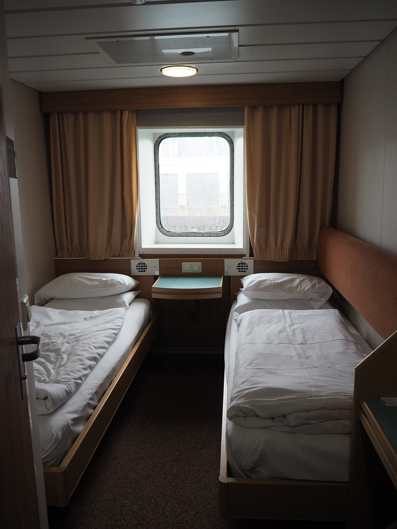 outer twin cabin on MV Hjaltland, Northlink Ferries