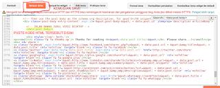 Paste kode HTML