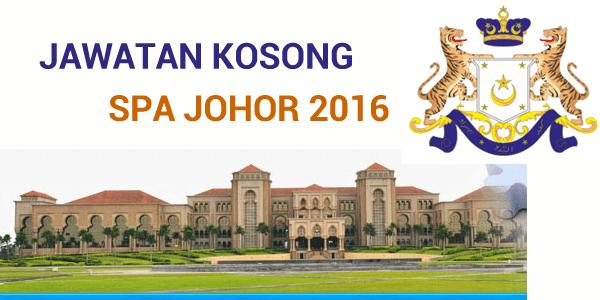 Jawatan Kosong SPA Johor 2016