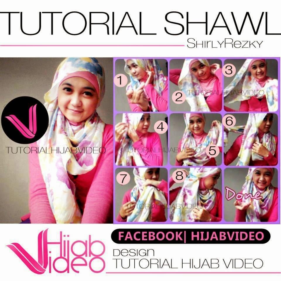 Cara Pakai Hijab Totorial Hijab Shawl Shirly Rezky
