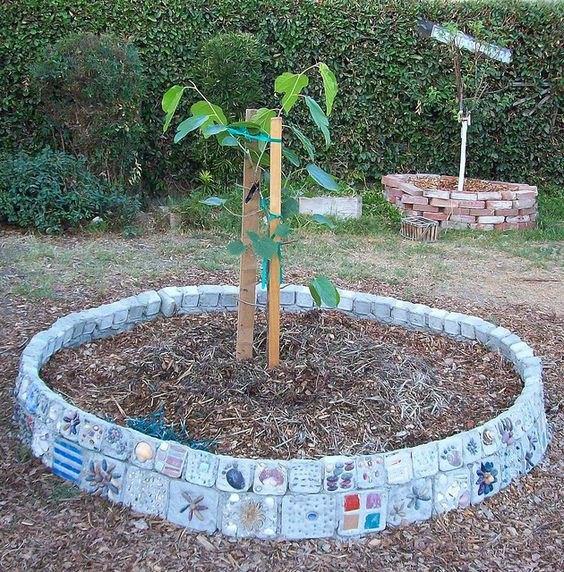 Homemade Mosaic Planter Subtropical Gardening
