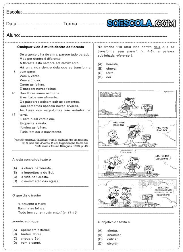 Exercicios de resumo de textos