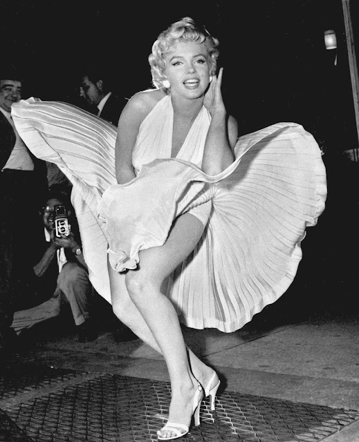 "Marlyn Monroe în ""The seven Years Itch"""