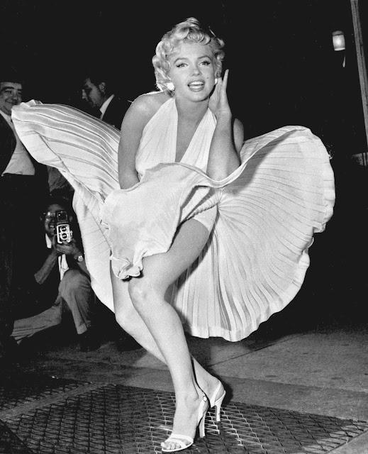 "Marlyn Monroe în ""The seven Years Itch"""