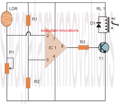 inverting non-inverting interchanged opamp comparator