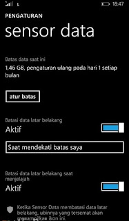 Cara Menghemat Kuota dengan Sensor Data di Windows Phone