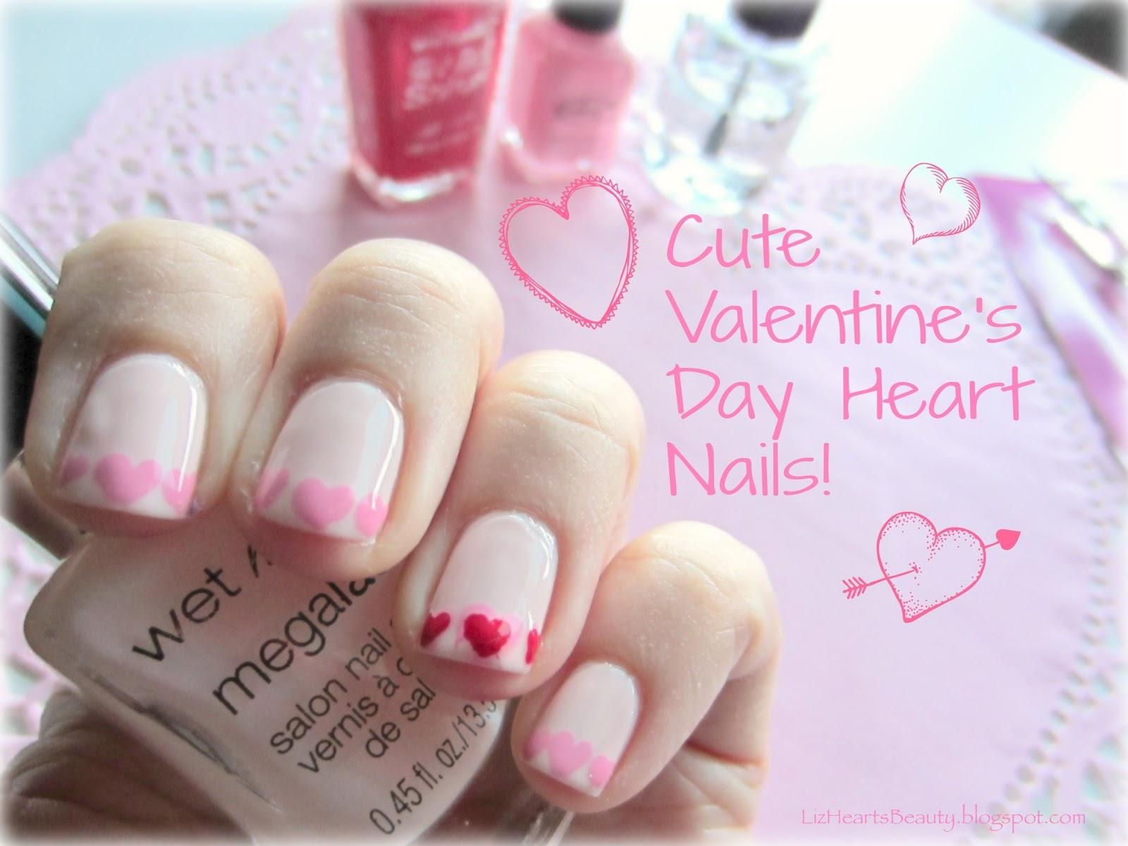 Liz Hearts Beauty Cute Valentine S Day Heart Nails