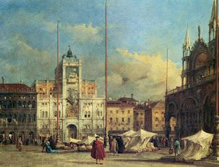 Francesco Guardi : Piazza San Marco la tour de l'Horloge et la cathédrale