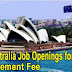 Job Openings for Filipinos in Australia. No Placement Fee!