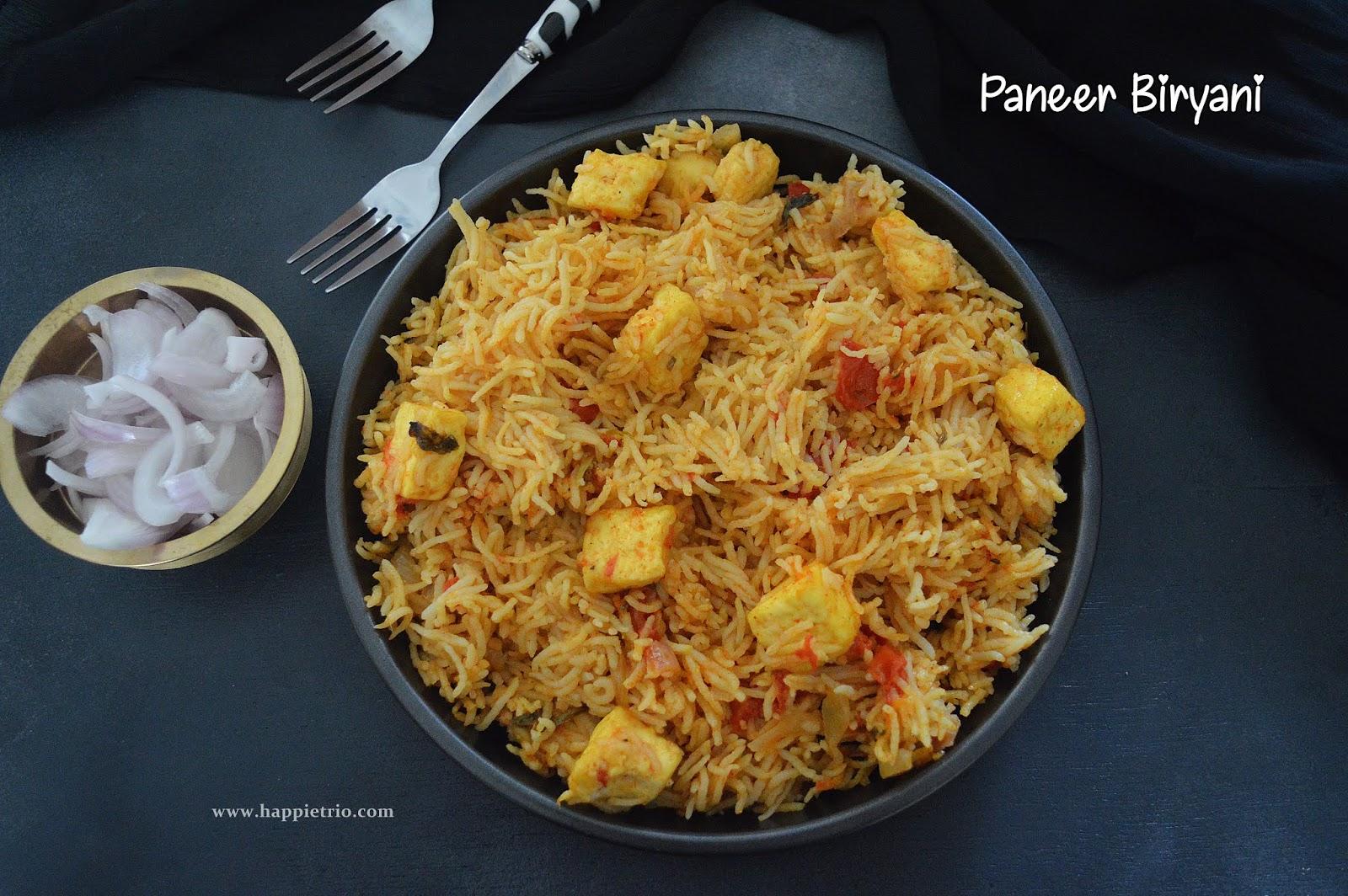 Paneer Biryani in Pressure cooker Recipe | How to Cook Paneer Biryani In Cooker