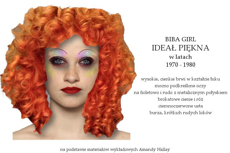 Agnieszka Sajdak-Nowicka ideał piękna w latach siedemdziesiątych 1970 - 1980 na podstawie materiałów wykładowych Amandy Hallay