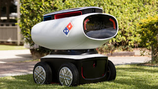 Domino's Trial Robot Vehicle for Inquiry Pizza