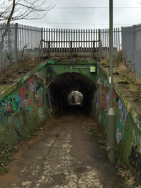 Subway under the main line from King's Cross, north of New Barnet