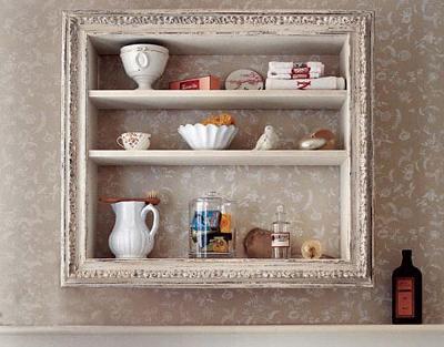 Ubah bingkai foto jadi rak buku dan rak perabot dapur