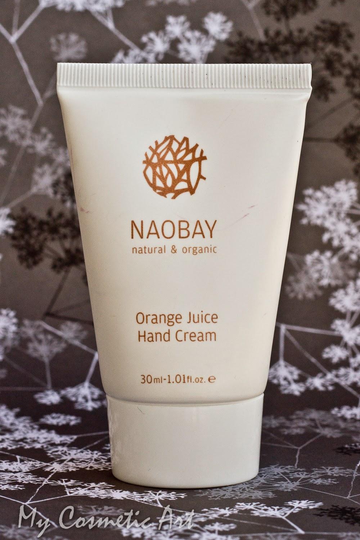 crema manos naranja Naobay