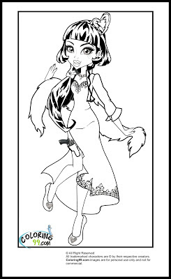 baby draculaura coloring pages - photo#31