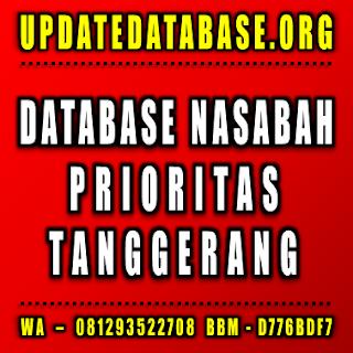 Jual Database Nasabah Tanggerang