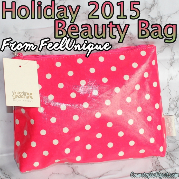 Here are the contents of the Feelunique Holiday 2015 Beauty Bag.
