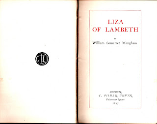 Liza of Lambeth by W. Somerset Maugham, first edition